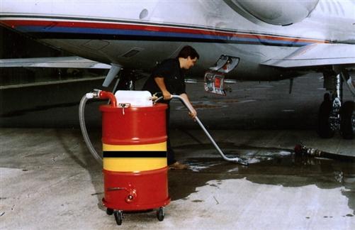 Air Powered Vacuum : Drum top pneumatic air powered vacuum for flammable